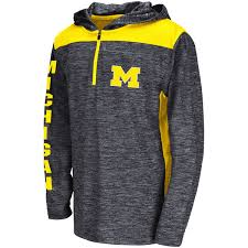 colosseum navy michigan wolverines quick kick quarter zip hoodie