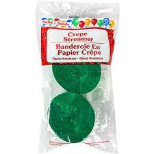 bulk crepe paper streamers bulk green crepe paper streamers 70 5 ft 2 ct packs at