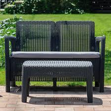 canapé jardin salon de jardin résine st barth canapé 2 fauteuils table basse