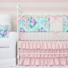 riley u0027s rose pink u0026 aqua crib set caden lane