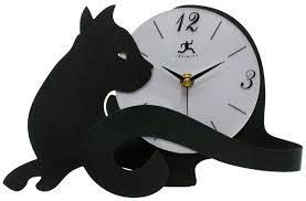 cat tail table top mantel clock cool clocks com