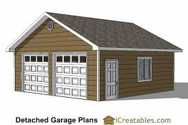 diy 2 car garage plans 24x26 u0026 24x24 garage plans