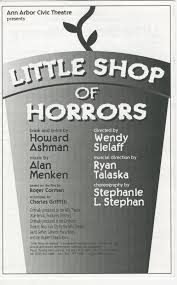 ann arbor civic theatre program little shop of horrors september