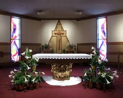 easter church decorations file matthias catholic church columbus ohio sanctuary