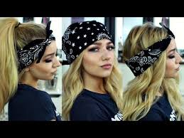 hairstyles with haedband accessories video how to wear a bandana in 4 different styles