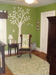 green wall white decal nursery pinterest white trees