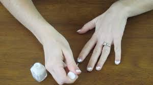 how to give yourself a french manicure youtube