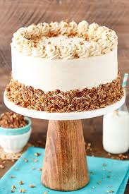 browned butter pecan layer cake and sugar