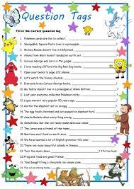 curious george u0026 meet question tags worksheet free esl