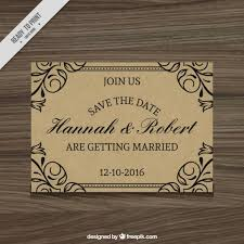 free wedding invitation sles wedding invitation rustic style vector free