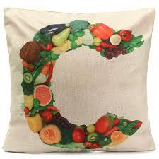 Christmas Decorative Pillow Cases by Alphabet A Z Love Letters Word Fruit Throw Pillow Case Cotton