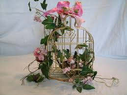 Home Flower Decoration Ideas Cottage Chic Birdcage Floral Arrangement Mothers Day Wedding Home