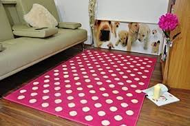 modern soft pink white circle spotted extra large area rug all