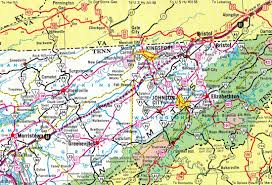 Map Tennessee Interstate Guide Interstate 181 Tennessee