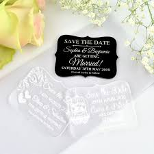 engraved acrylic wedding mini save the date cards unique save the