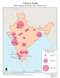 India Population Map by The Makings Of Cartography Proportional Symbol Map Of Population