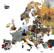 Map Art Famous Artwork In Europe Oc 2000 1982 Mapporn