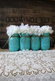 jars painted jars rustic wedding centerpieces