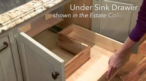 Storage Solutions Under Sink Drawer YouTube - Kitchen sink drawer
