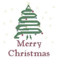 bah humbug christmas tree funny cross stitch pattern