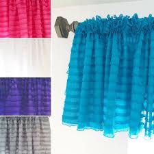 Turquoise Ruffle Curtains Shop Pink Ruffle Curtains On Wanelo