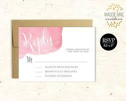 printable wedding invitation rsvp watercolor calligraphy