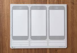 ui stencils iphone sketch pad