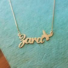 Custom Gold Name Necklace Gold Nameplate Chain Ebay