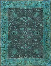 Blue Wool Rug Vintage Looking Wool Rugs Creative Rugs Decoration