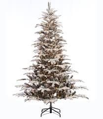 christmas tree artificial the aisle pre lit aspen flocked 7 5 green fir artificial
