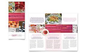 4 fold brochure template word corporate event planner caterer tri fold brochure template