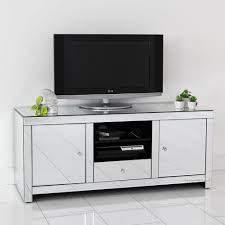Modern White Tv Table Stand Artdeco Venetian Mirrored Widescreen Tv Unit For The Home