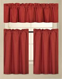 amazon com gorgeoushomelinen k3 3 pc kitchen window valance
