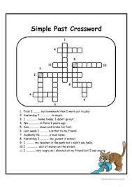 3 free esl past tense crossword worksheets