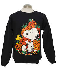 halloween hoodie vintage 80s shirt 80s authentic vintage peanuts unisex black