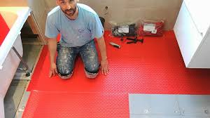 Permat Tile Underlayment by Warm Up Dcm Pro Matting Youtube