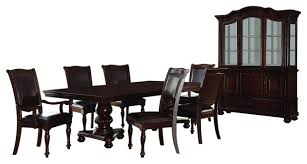Traditional Dining Room Set Homelegance Lordsburg 8 Piece Double Pedestal Dining Room Set In