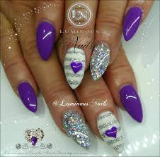 nails purple beautify themselves with sweet nails
