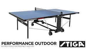 stiga advance table tennis table assembly performance outdoor assembly instructions youtube