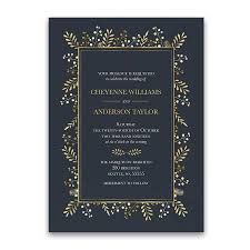 wedding invitations blue wedding invitation suite navy blue gold leaves