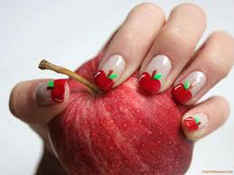 apple nail artnailnailsart apple nail art designnailnailsart