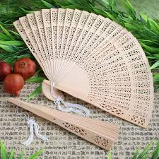 sandalwood fan personalized 1 sandalwood fan wedding favor folding bridal