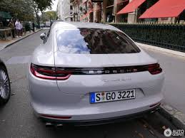 new porsche panamera 2017 crayon colored 2017 porsche panamera turbo spotted on paris streets