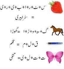 only4kids urdu alfaz jor tor kids worksheets pinterest