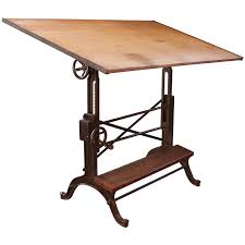 adjustable height drafting table drafting table vintage industrial cast iron and wood frederick post