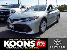 toyota home 2018 toyota camry le for sale annapolis md