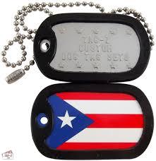Puertorican Flag Tag Z Puerto Rican Flag Dog Tag Set
