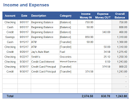 Income Tracker Spreadsheet And Expense Tracking Worksheet