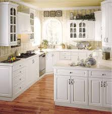 Small White Kitchen Cabinets Simple White Kitchen Cabinets Ideas With Brown Floor Kitchen