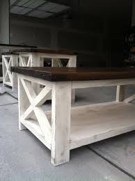 Rustic Coffee And End Tables White Rustic X Coffee Table Diy Projects